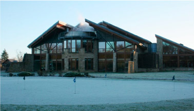 Carrick Golf Club and Spa photographed on a frosty morning. CC-BY-SA/2.0 - © Richard Sutcliffe -geograph.org.uk/photo/5624474