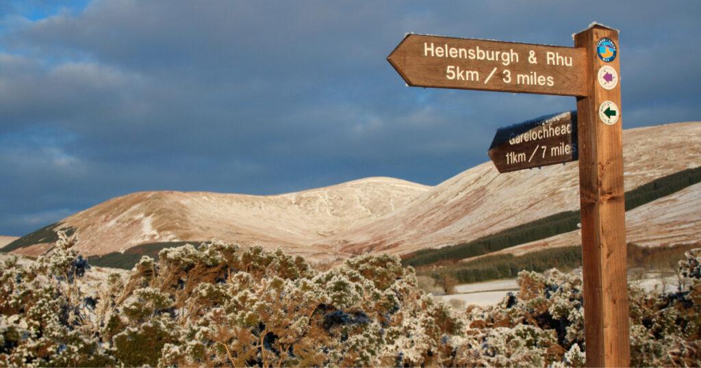 HADAT Glen Fruin signpost © Helensburgh and District Access Trust