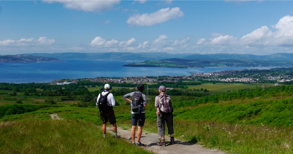 HADAT view over Helensburgh © Helensburgh and District Access Trust