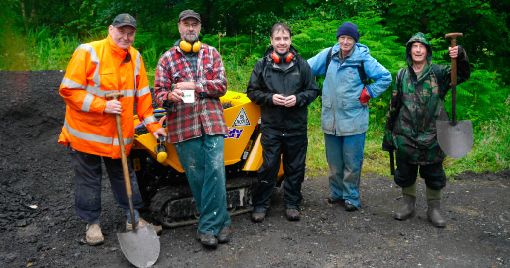 HADAT work party © Helensburgh and District Access Trust