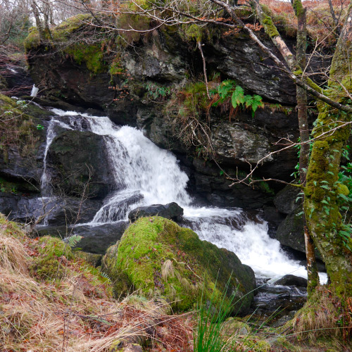 Three Lochs Way Tighness waterfall © Helensburgh and District Access Trust