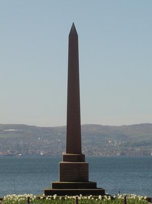 Henry Bell Obelisk West Esplanade. Image source: © Helensburgh Heritage Trust