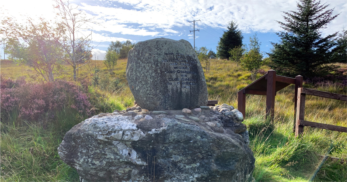Glen Fruin Memorial. AFoy