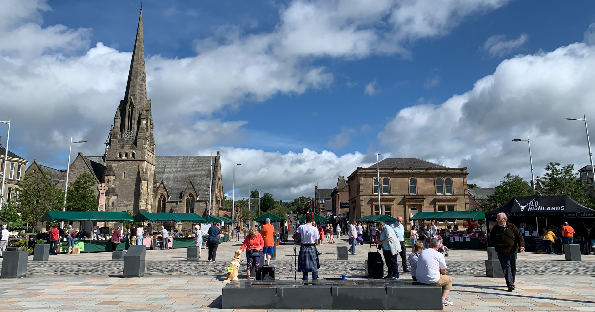 Helensburgh Market in the Square