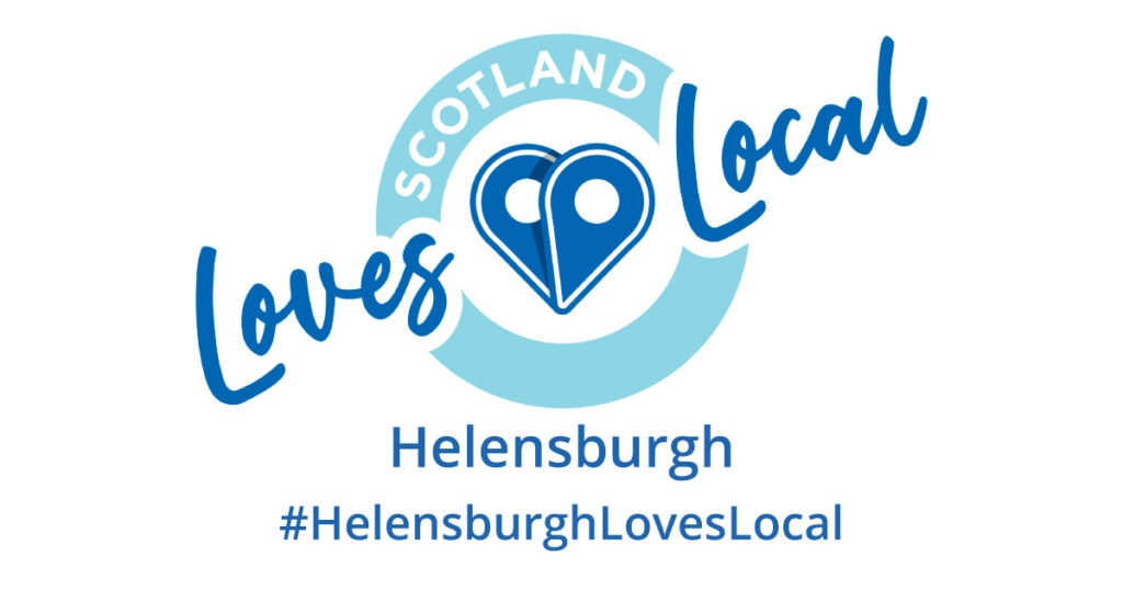 Scotland Loves Local logo Helensburgh hashtag HelensburghLovesLocal
