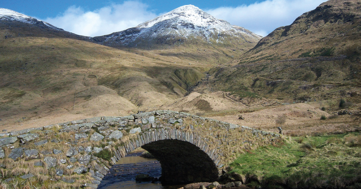 Beinn Ime from the Butterbridge Image source Grinner, CC BY-SA 3.0 https://upload.wikimedia.org/wikipedia/commons/2/22/Beinn_ime_from_the_butterbridge.jpg
