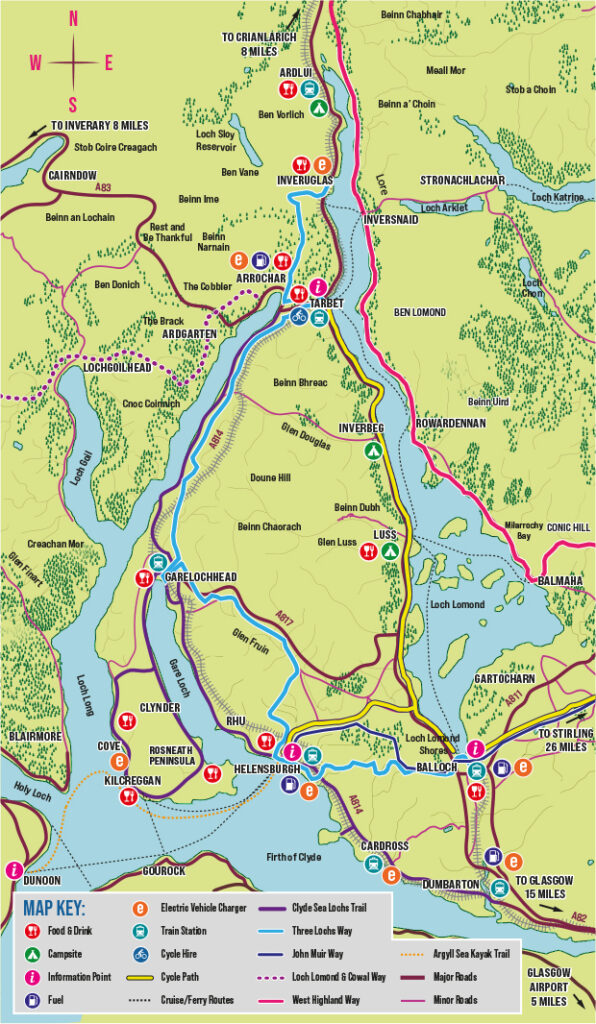 Helensburgh and Lomond Visitor Map Basic Web Example