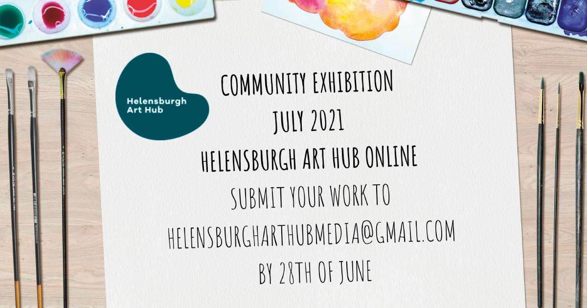 Helensburgh Art Hub Exhbition 2021 promotional image