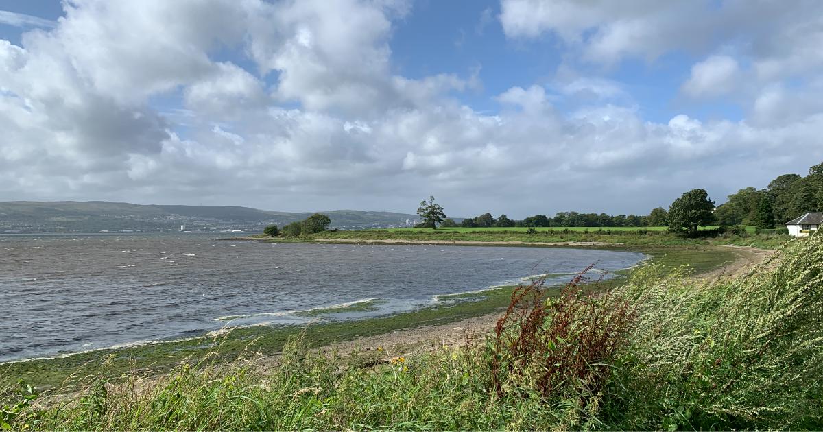 View across bay towards Ardmore Point, Scotland
