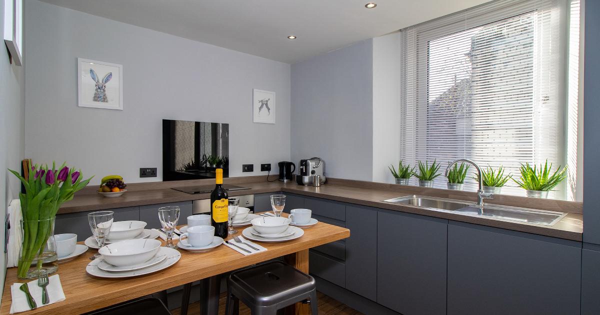 Comet Apartments Helensburgh An Steisean kitchen